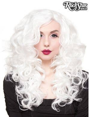 "Lace Front 22"" Curly White Women's Fashion Wig"