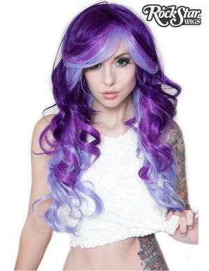 Deluxe Purple Possession Heat Resistant Women's Long Curly Wig