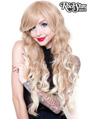 Classic Long Wavy Blonde Ombre Women's Fashion Wig