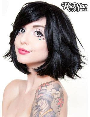 "Deluxe Women's Black 12"" Bob Fashion Wig"