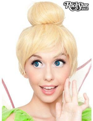 Deluxe Short Blonde Women's Tinkerbell Costume Wig