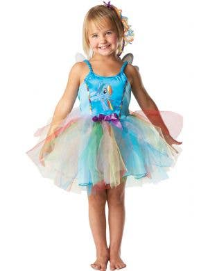 My Little Pony Girls Rainbow Dash Tutu Fancy Dress Costume