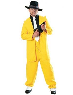 Men's 1940's Yellow Zoot Suit Gangster Costume