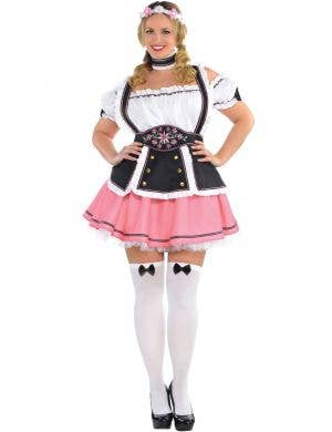 Fraulein Plus Size Beer Wench Womens Pink Oktoberfest Costume