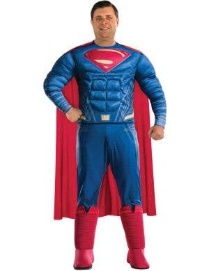 Superman Men's Plus Size Justice League Superhero Costume