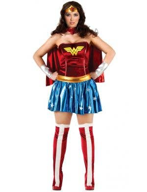 Women's Plus Size Wonder Woman Fancy Dress Costume