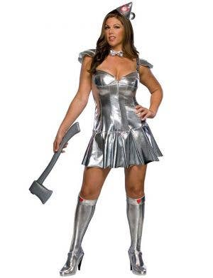Women's Sexy Wizard of Oz Tin Man Plus Size Costume