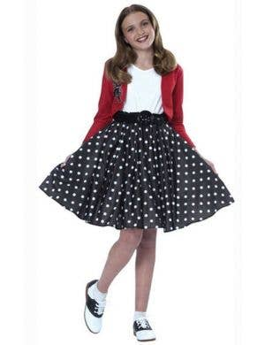 Polka Dot 1950's Girls Rock n Roll Fancy Dress Costume