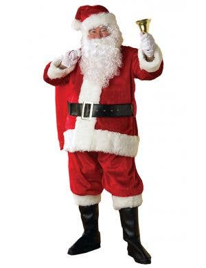 Deluxe Plush Father Christmas Santa Suit Costume