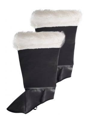 Leather Look Deluxe Father Christmas Boot Covers