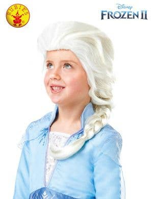 Frozen 2 - Girls Blonde Elsa Braid Costume Wig