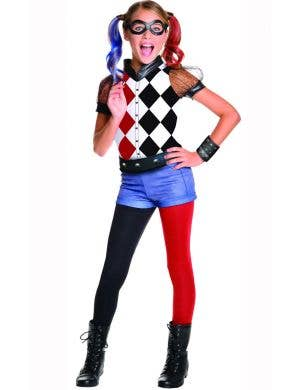 Girls DC Superhero Harley Quinn Costume Main Image