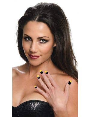 Batgirl Self Adhesive Nail Strips Costume Accessory