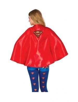 Supergirl Women's Red Satin Superhero Cape Accessory