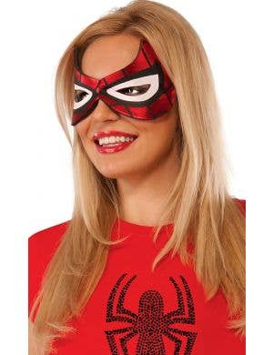 Spidergirl Eye Mask Costume Accessory Adults Main Image