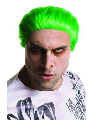 Neon Green The Joker Suicide Squad Men's Costume Wig
