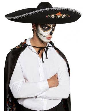 Day of the Dead Mexican Sugar Skull Sombrero Image 1