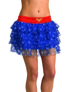 Wonder Woman adults ruffled layer fancy dress skirt
