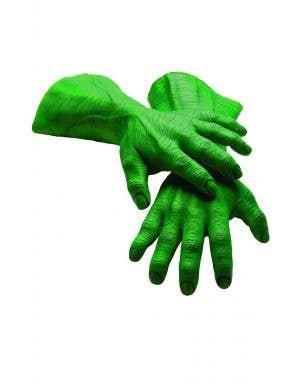 Men's Superhero Green Hulk Latex Hands Accessory