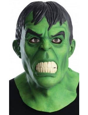 Green Incredible Hulk Mens Latex Costume Mask
