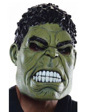 Green Incredible Hulk Mens 3/4 Latex Costume Mask