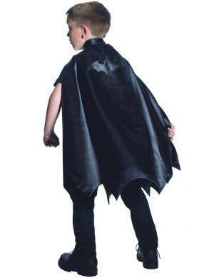 Boys Black Batman Superhero Costume Cape