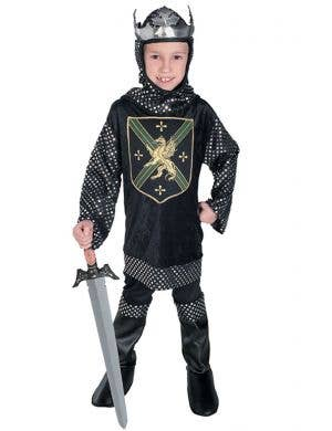 Boys Medieval Knight King's Warrior Fancy Dress Costume