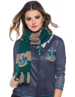 Deluxe Knitted Slytherin Scarf Costume Accessory