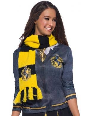 Deluxe Knitted Hufflepuff Scarf Costume Accessory