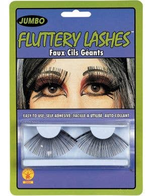 Fluttery Jumbo Long Black False Eyelashes
