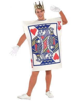 Men's King Of Hearts Tunic Fancy Dress Costume