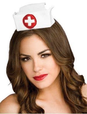 Satin Nurse Hat on a Headband