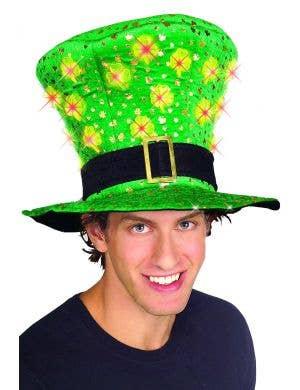 Light Up St Patrick's Day Novelty Plush Hat
