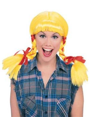 Country Girl Women's Yellow Costume Wig