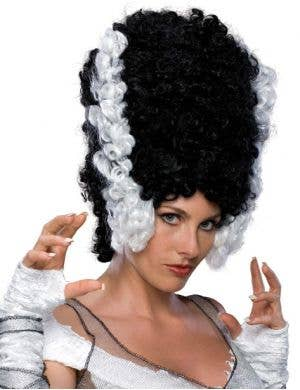 Monster Bride Black & White Halloween Costume Wig