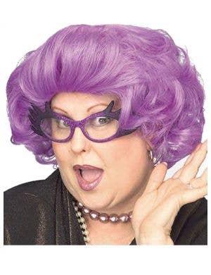 The Dame Edna Purple Costume Wig