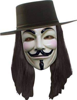 Men's V For Vendetta Black Costume Wig