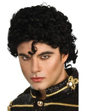 Michael Jackson Men's Curly Black Costume Wig