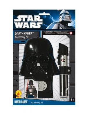 Light Saber And Black Darth Vader Mask Image 1
