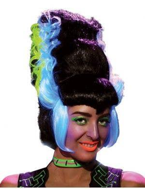 Franken Bride Beehive Women's Halloween Wig