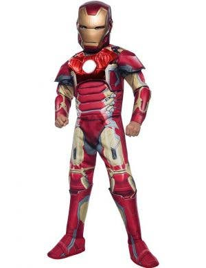Iron Man Boy's Avengers Movie Costume Front View