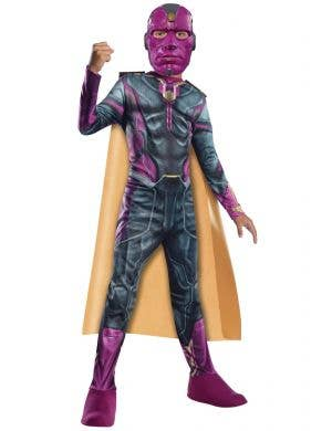 Age of Ultron Boys Vision Fancy Dress Costume