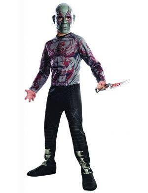 Drax Guardians of the Galaxy Boys Fancy Dress Costume
