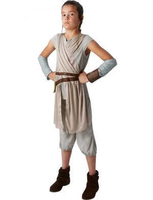 Girl's Star Wars Rey Jedi Movie Character Costume Front