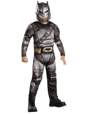 Deluxe Armoured Boys Batman Costume Front View
