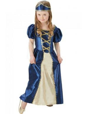 Blue Renaissance Princess Costume for Girls Main Image