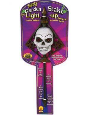 Spooky Halloween Skull Light Up Garden Stake