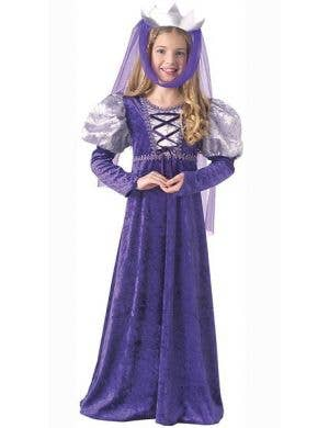 Purple Renaissance Queen Costume for Girls