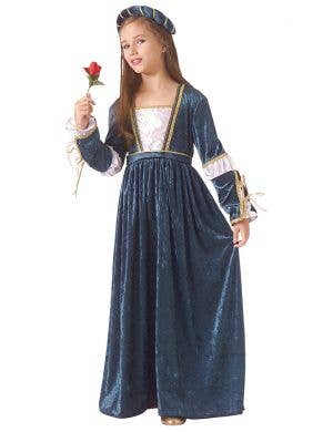 Blue Renaissance Shakespeare Juliet Costume for Girls