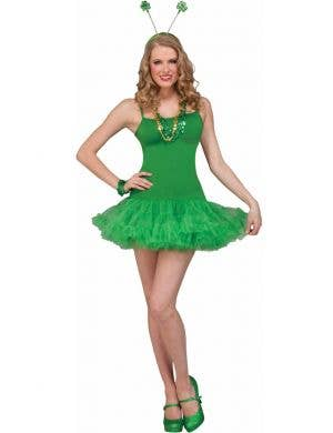 Green St Patrick's Day Fluffy Petticoat Slip Dress Costume Base